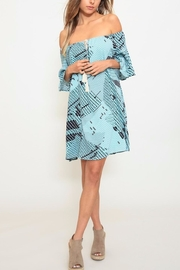Listicle Printed A-Line Dress - Front cropped
