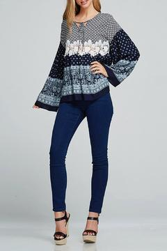 Listicle Printed Peasant Top - Product List Image