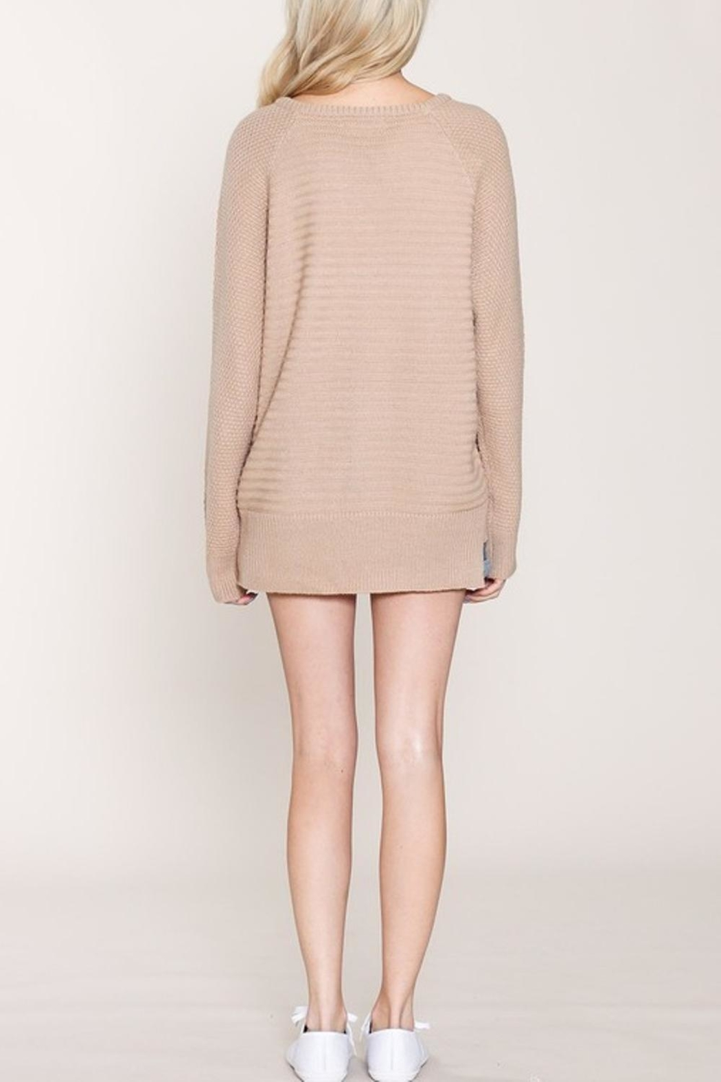 Listicle Pullover Long Sweater - Side Cropped Image