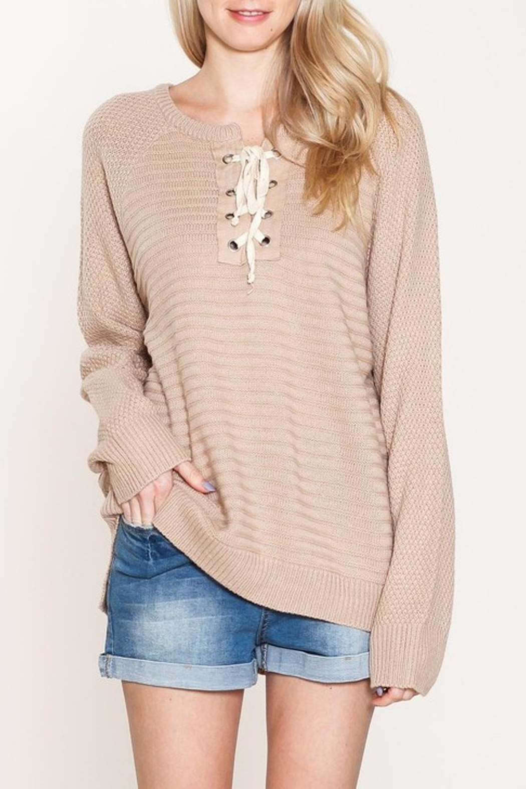 Listicle Pullover Long Sweater - Main Image