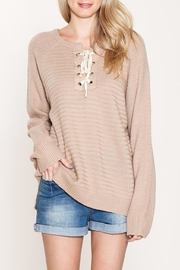 Listicle Pullover Long Sweater - Front cropped