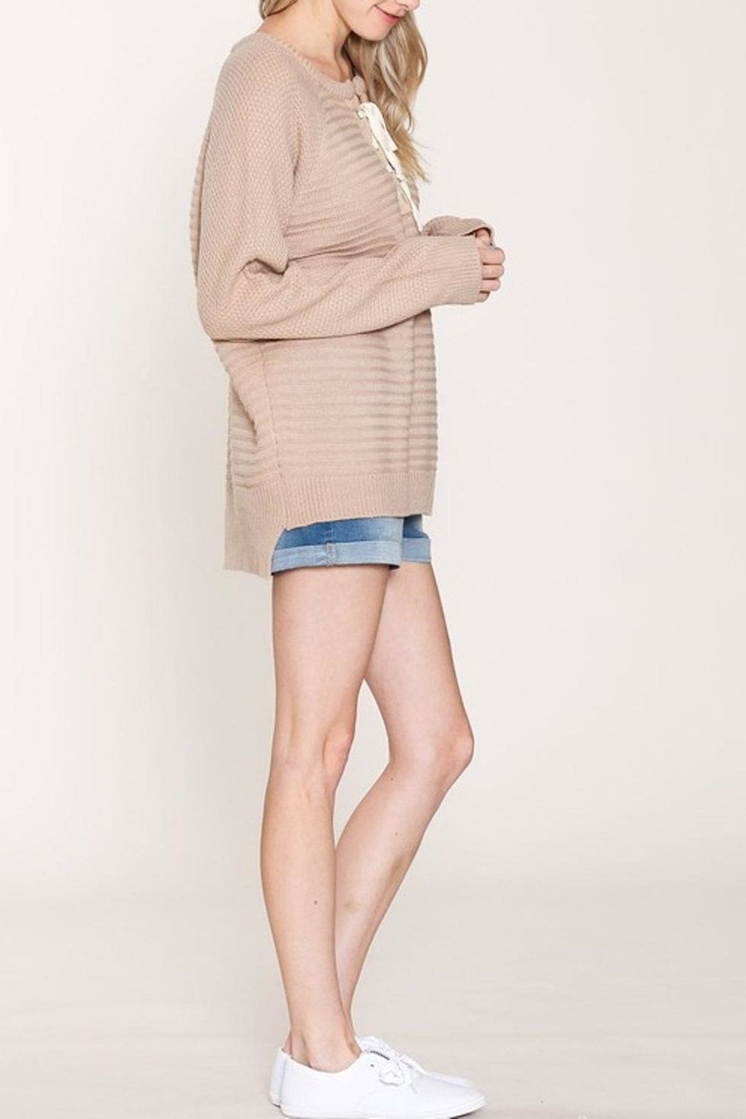 Listicle Pullover Long Sweater - Front Full Image