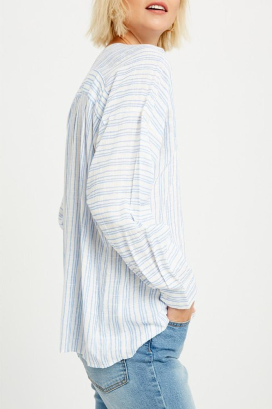 Listicle Relaxed Striped Tunic - Side Cropped Image