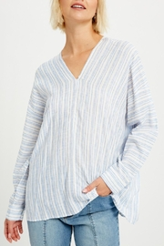 Listicle Mona Relaxed Striped Tunic - Product Mini Image