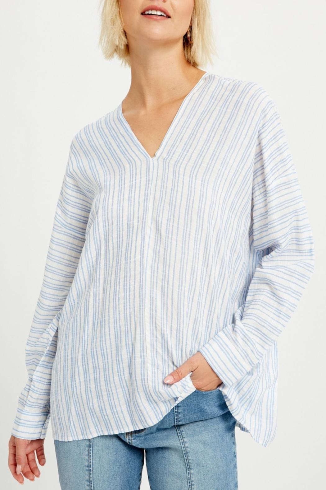 Listicle Relaxed Striped Tunic - Main Image