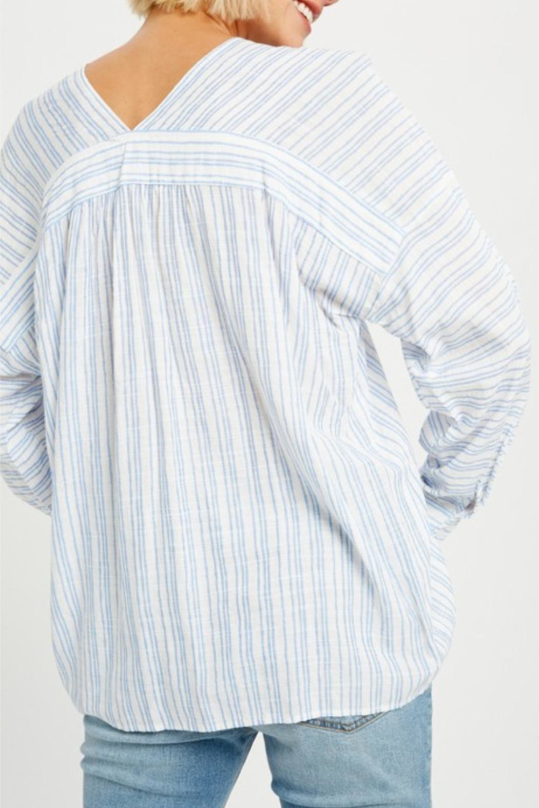 Listicle Relaxed Striped Tunic - Front Full Image