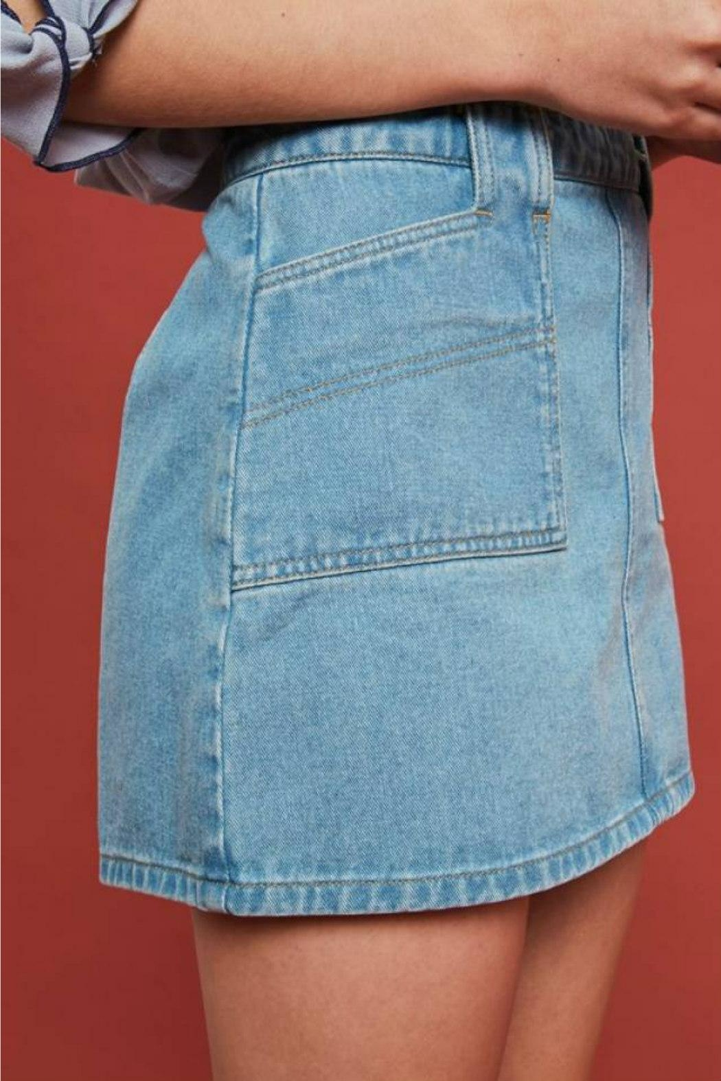 Listicle Retro Denim Mini - Front Full Image