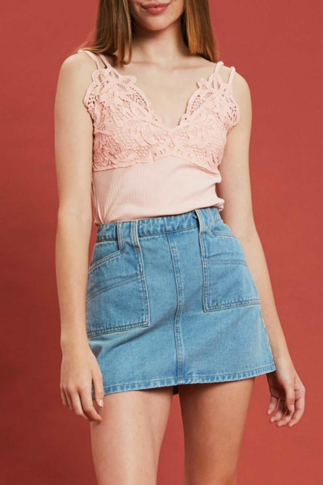 Listicle Retro Denim Mini - Main Image