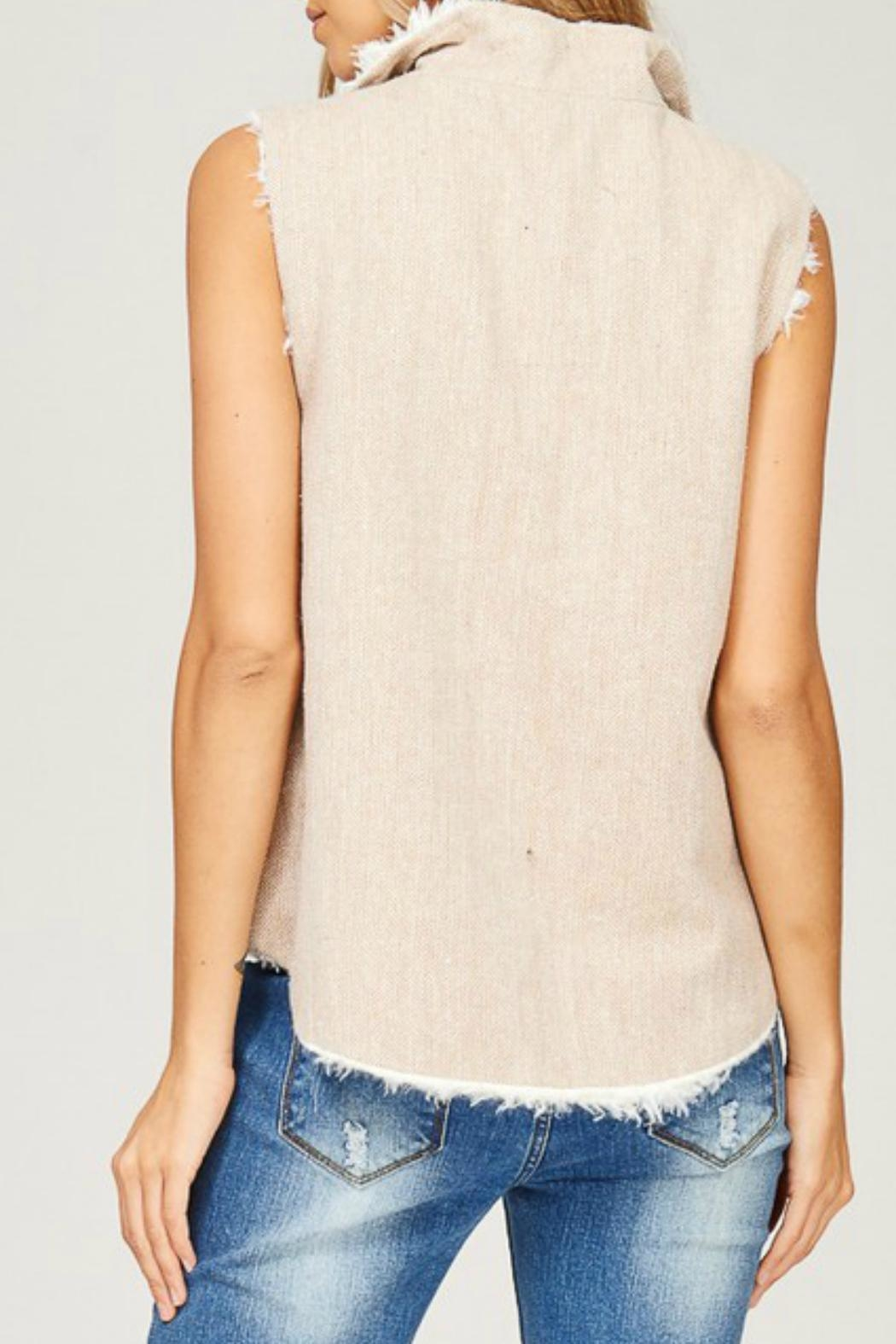 Listicle Reversible Vest - Back Cropped Image