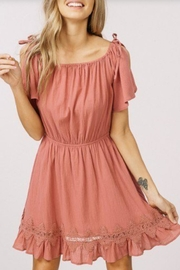 Listicle Ruffled Lace Dress - Side cropped