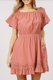 Listicle Ruffled Lace Dress - Product Mini Image