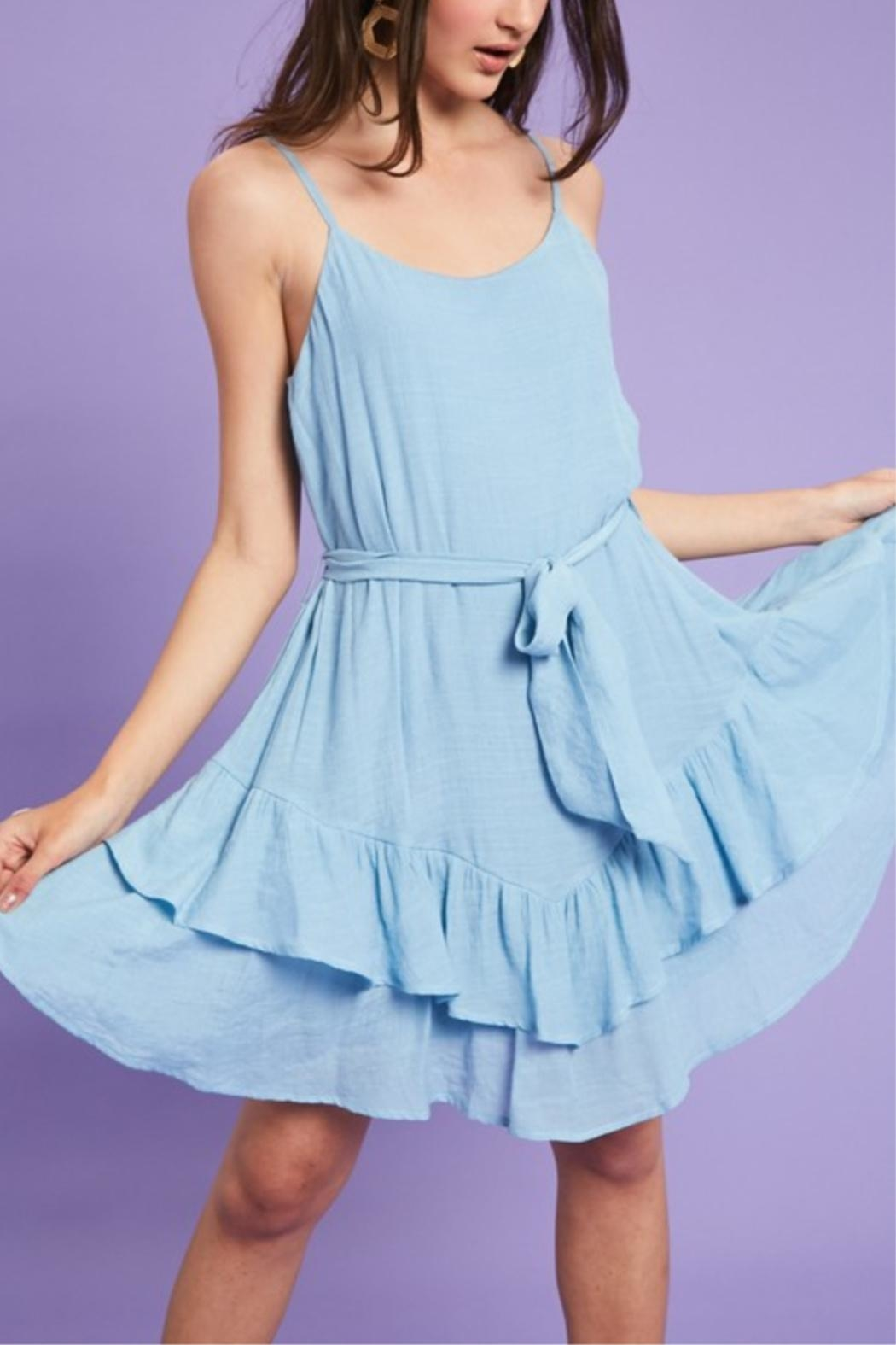 Listicle Sea Waves Dress - Front Full Image
