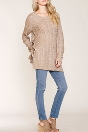 Listicle Shelby Sweater Taupe Top - Front cropped