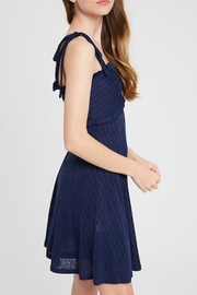 Listicle Shoulder Tie Dress - Side cropped