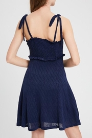 Listicle Shoulder Tie Dress - Back cropped