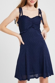 Listicle Shoulder Tie Dress - Front full body