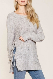 Listicle Side-Tie Long Sweater - Product Mini Image