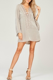 Listicle Silky Lace Up Dress - Product Mini Image