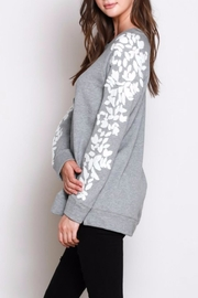 Listicle Sleeve Detail Sweatshirt - Front full body