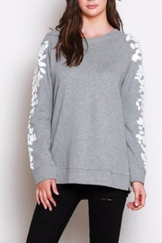 Listicle Sleeve Detail Sweatshirt - Front cropped