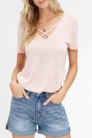 Listicle Soft V-Neck Top - Product Mini Image
