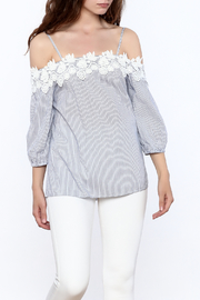 Listicle Stripe Crochet Top - Product Mini Image
