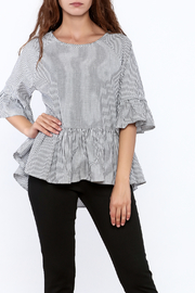 Listicle Stripe Flare Top - Product Mini Image