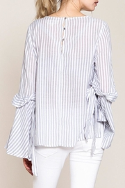 Listicle Striped Bell-Sleeve Top - Product Mini Image