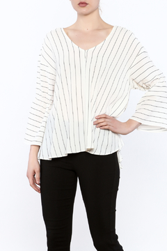 Shoptiques Product: Striped Bell Sleeve Top