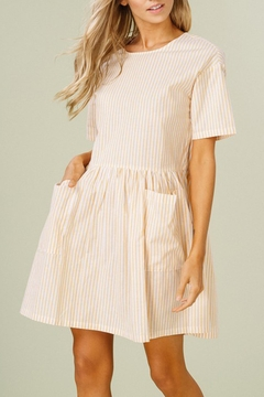 Listicle Striped Cotton Dress - Product List Image