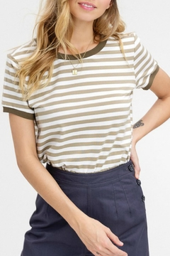 Listicle Striped Jersey Top - Product List Image