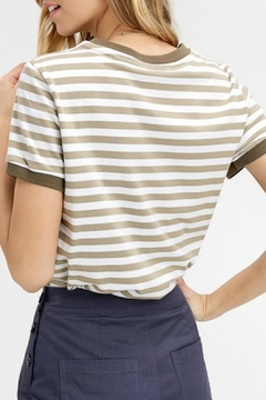 Listicle Striped Jersey Top - Alternate List Image