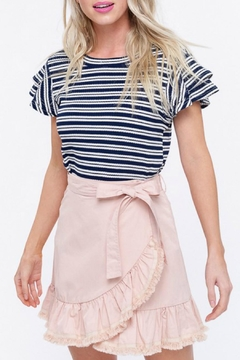 Listicle Striped Ribbed Top - Product List Image