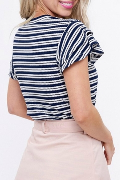 Listicle Striped Ribbed Top - Alternate List Image