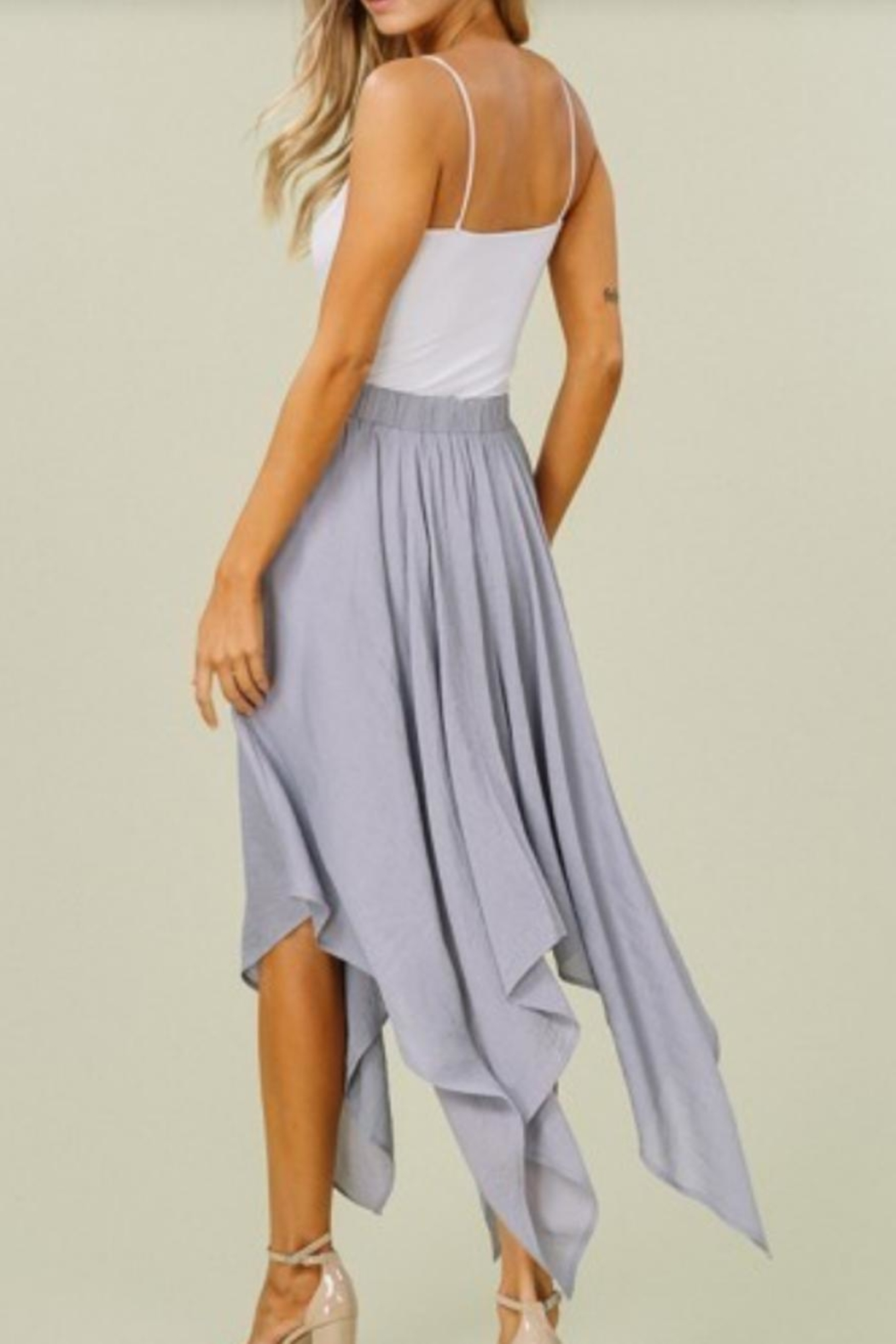 Listicle Stunning Handkerchief Skirt - Side Cropped Image