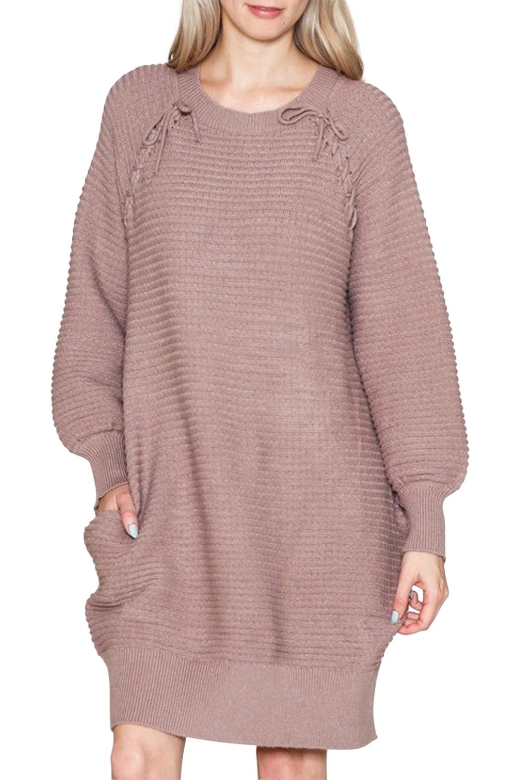 Listicle Sweater Dress - Front Full Image