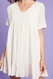 Listicle Textured Linen Babydoll - Product Mini Image