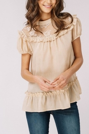 Listicle Textured Ruffle Top - Product Mini Image