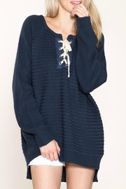 Listicle Tie-Up Knit Sweater - Product Mini Image