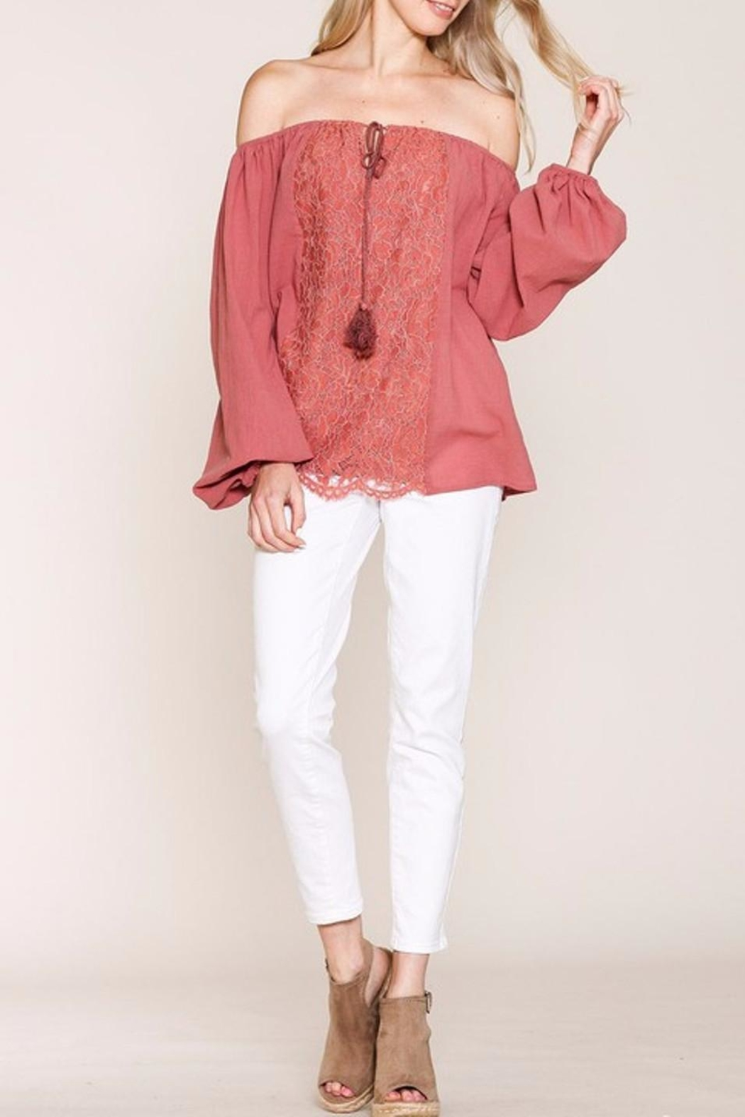 Listicle Top With Embroidery - Side Cropped Image