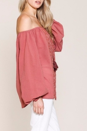 Listicle Top With Embroidery - Back cropped