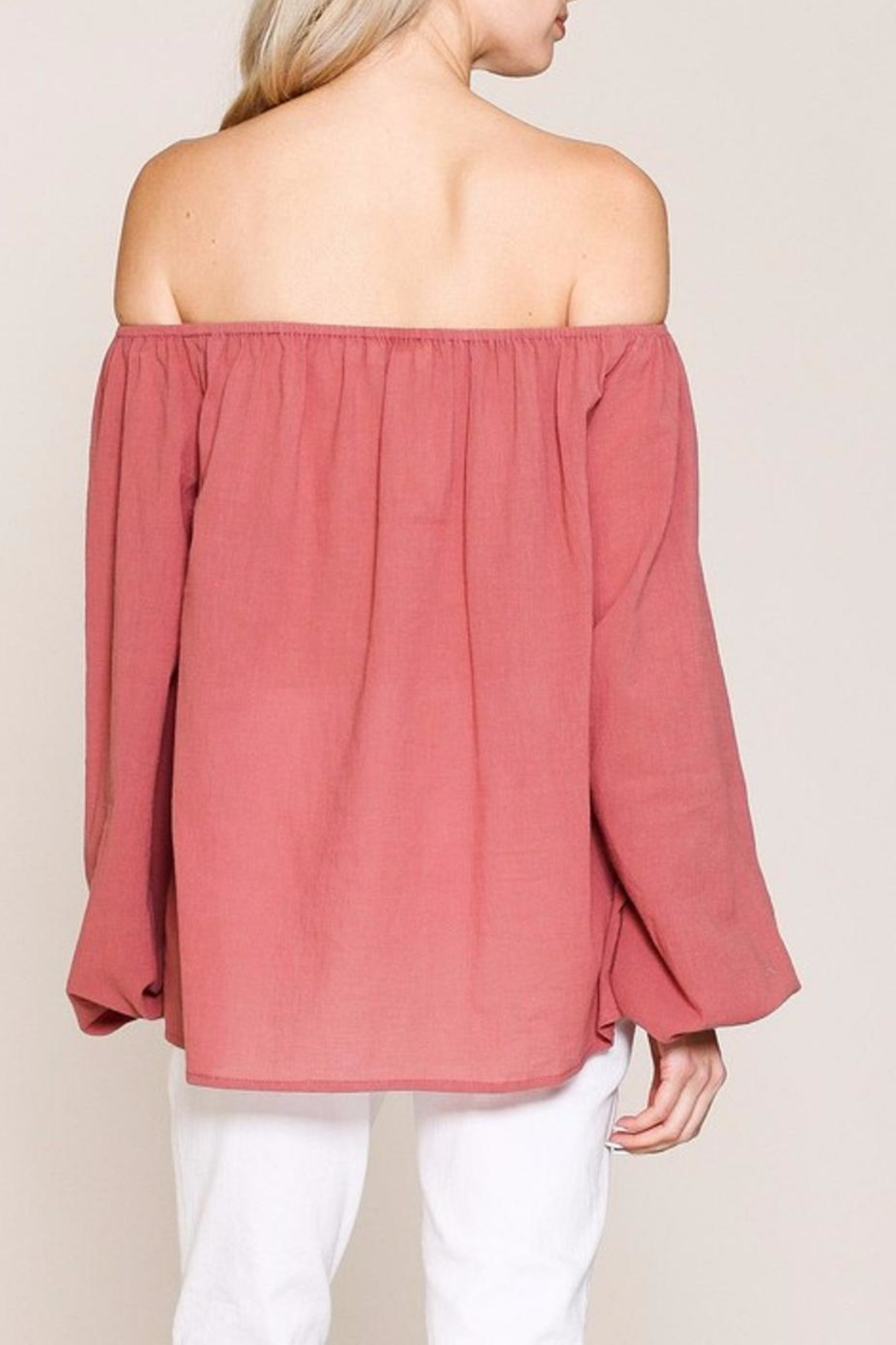 Listicle Top With Embroidery - Front Full Image