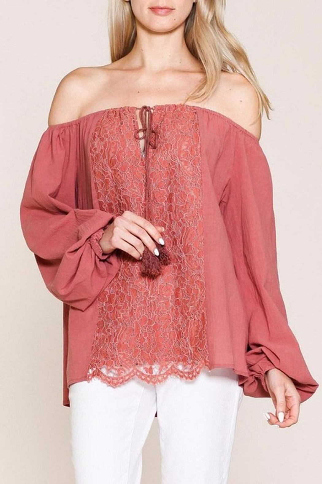 Listicle Top With Embroidery - Main Image