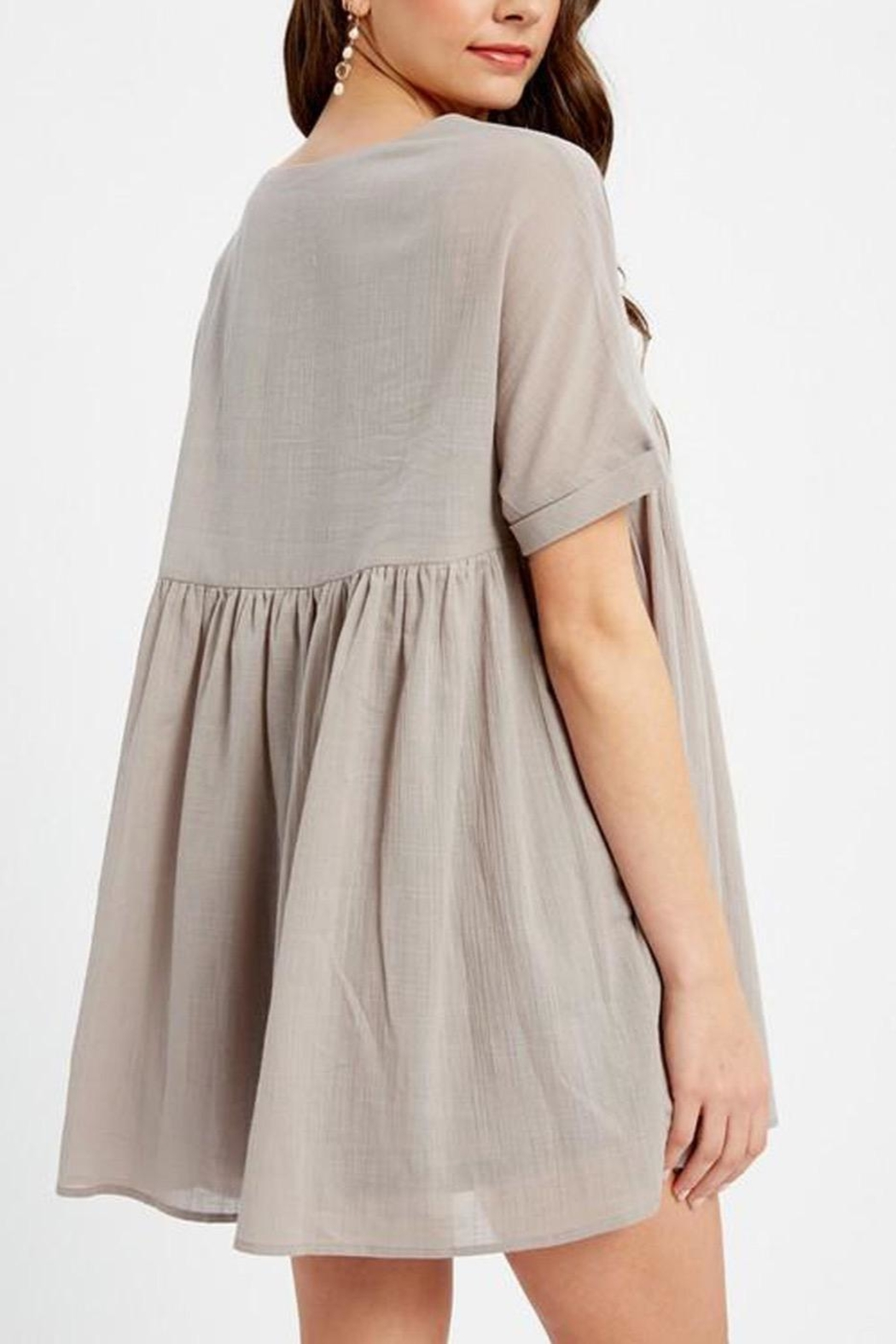 Listicle Tunic Dress - Front Full Image