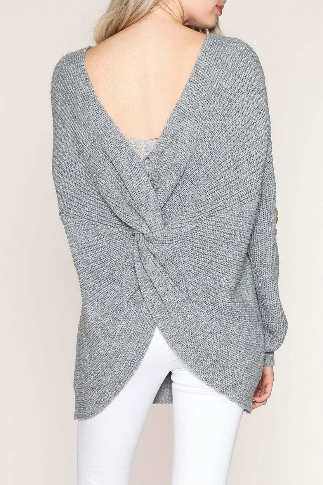 Listicle Twist Back Sweater - Main Image