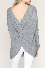 Listicle Twist Back Sweater - Front cropped
