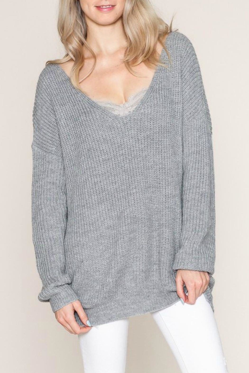 Listicle Twist Back Sweater - Front Full Image