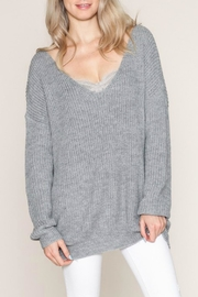 Listicle Twist Back Sweater - Front full body