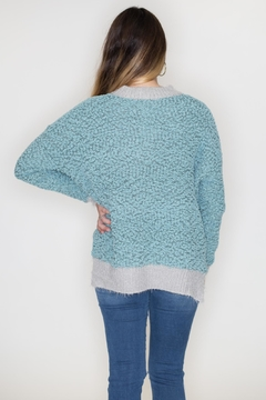 Listicle Two-Tone Popcorn Sweater - Alternate List Image