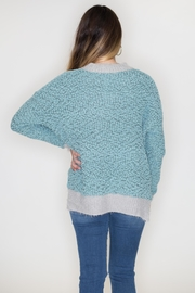 Listicle Two-Tone Popcorn Sweater - Side cropped